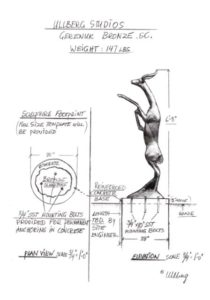 Waco Sculpture Zoo - Gerenuk Sketch
