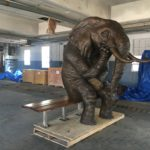 Waco Sculpture Zoo - Wise Elephant Build