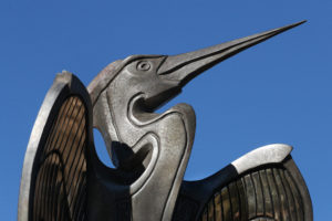 Waco Sculpture Zoo - Blue Heron Face