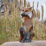 Waco Sculpture Zoo - Roxy Fox Side