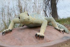 Waco Sculpture Zoo - Spiny Lizard Front