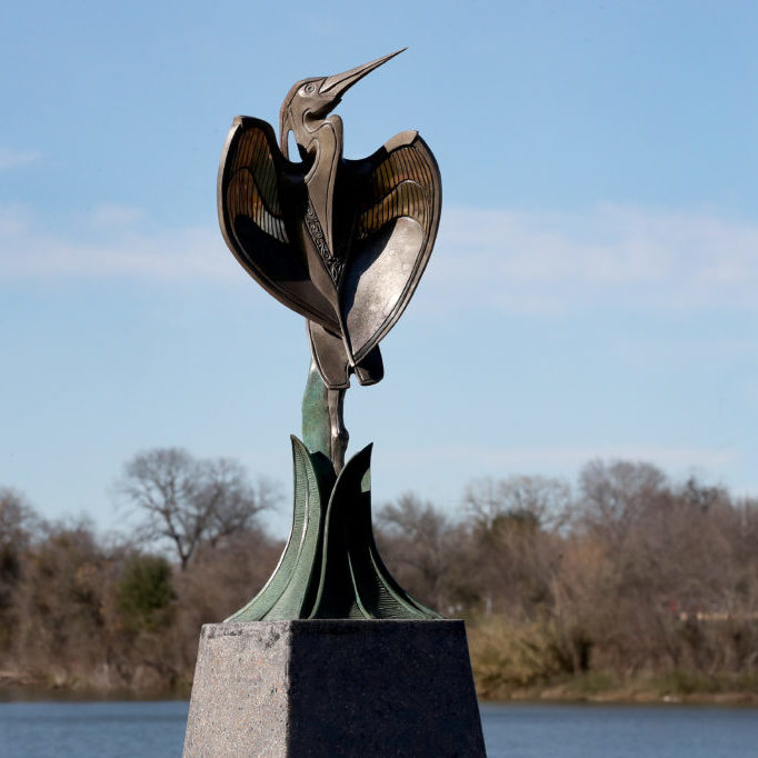 Waco Sculpture Zoo - Blue Heron